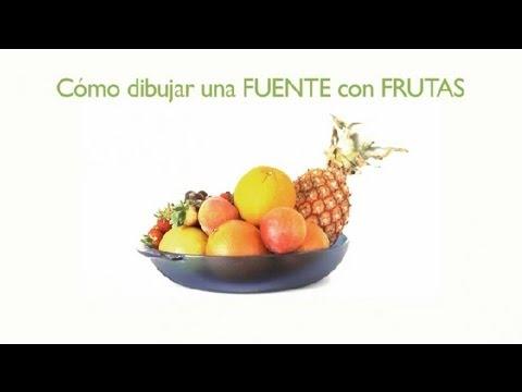 C mo dibujar una fuente con frutas frutas dibujadas - Como alicatar una pared ...