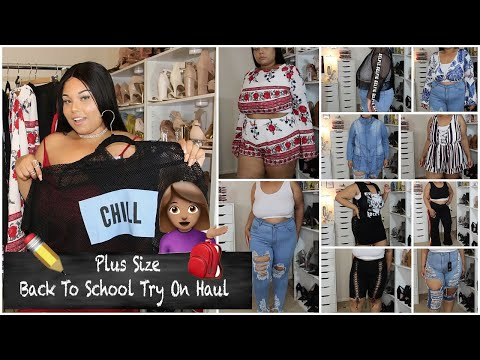 PLUS SIZE BACK TO SCHOOL CLOTHING HAUL & TRY ON FROM FASHIONNOVA CURVE