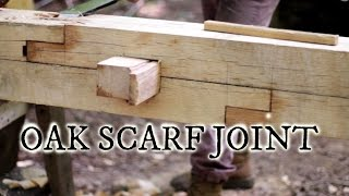 Our timber frame cabin Part III: White oak scarf joint