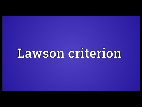 Lawson criterion Meaning