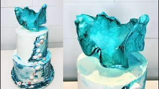 Cake decorating tutorials | BUTTERCREAM SEASHELL CAKE | Sugarella Sweets