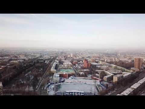Панорама новосибирска с высоты птичьего полета 12.11.2017