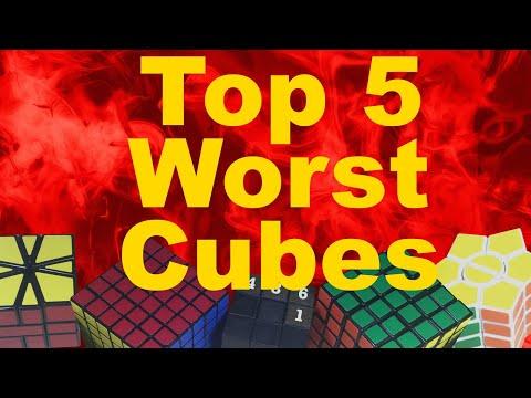 My Top 5 Worst Rubik's Cubes