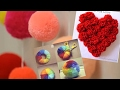 How to make a Pom Pom maker tutorial.  5 Ways to Make a Yarn Pompom