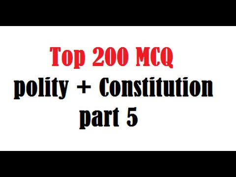 mcq on indian polity and constitution pdf