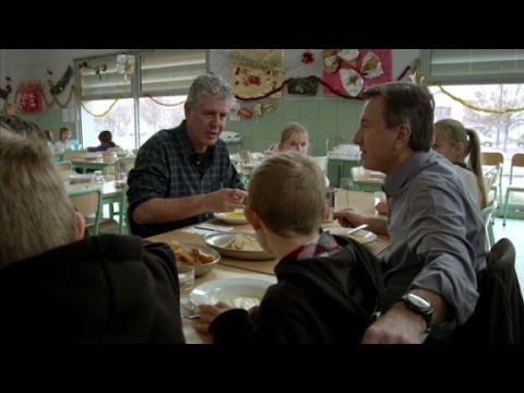 Anthony Bourdain  breaks bread with Lyon's second graders (Anthony Bourdain Parts Unknown)