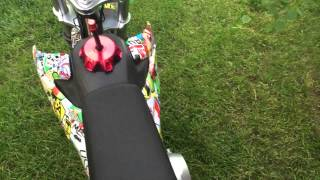 SSR 125cc pit bike start up