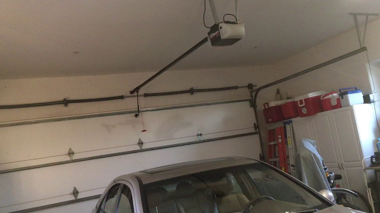 Liftmaster On The Big Garage Door Youtube