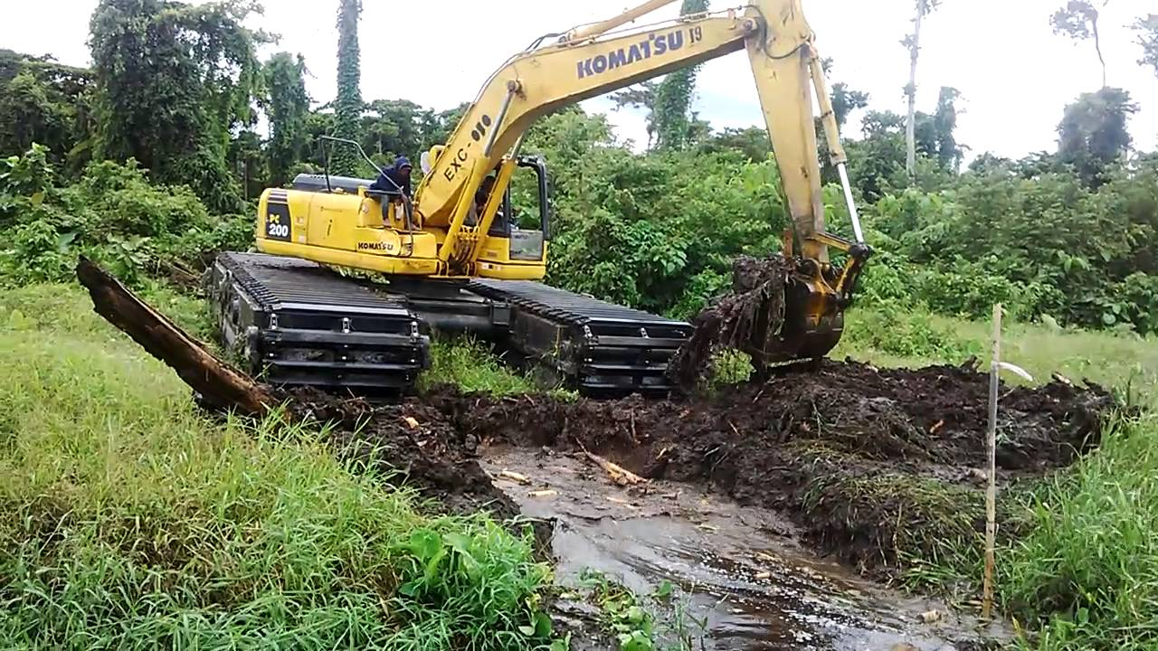 Swamp Excavator Amphibi Beko Lumpur Lahan Gambut Kebun Sawit YouTube