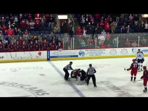 Allen Americans Goalie Fight 12.23.17