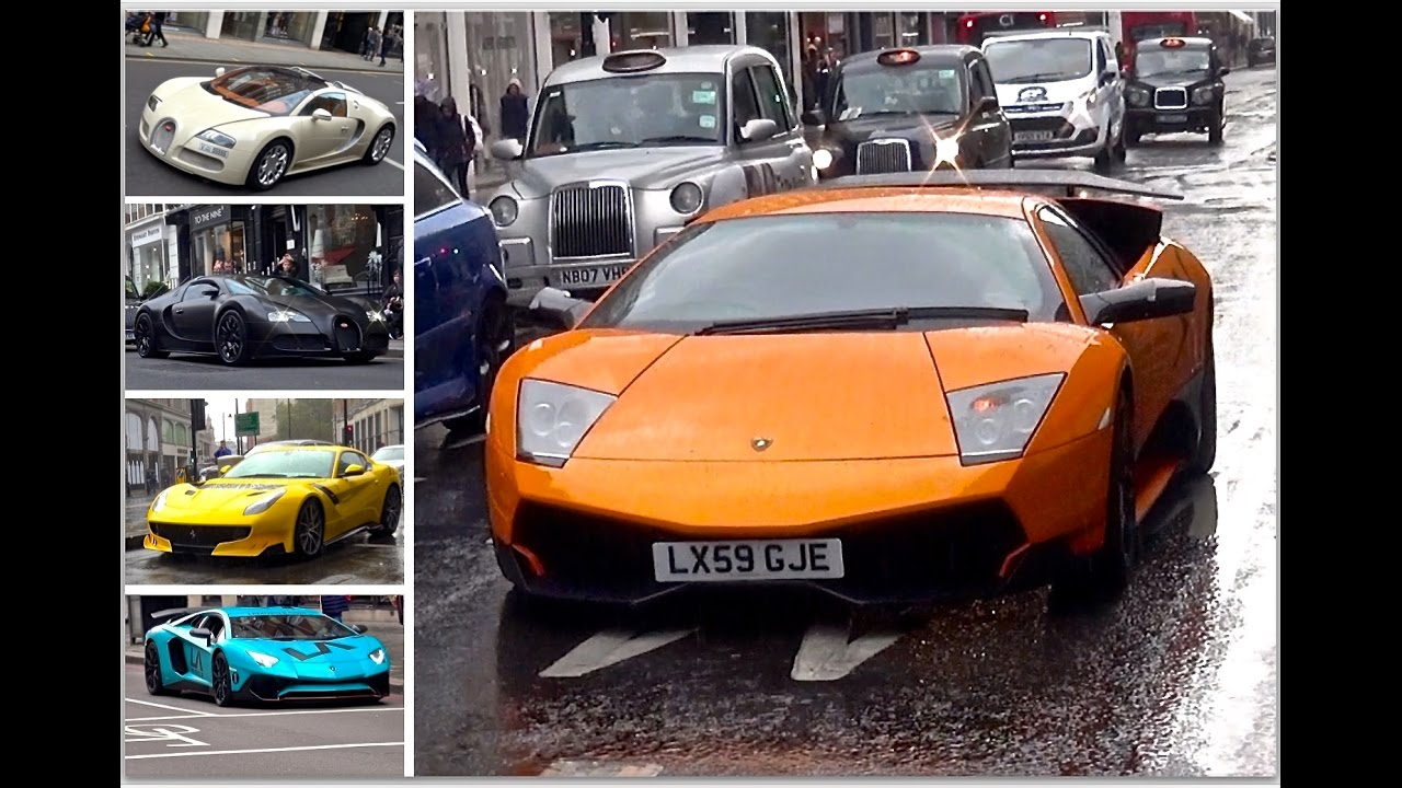 London Supercar Insanity #64 - Murcielago SV, F12 TDF, Veyron x2 & More!