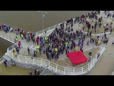 Rhyl Pont y Ddraig opening day 2013 Foryd Harbour
