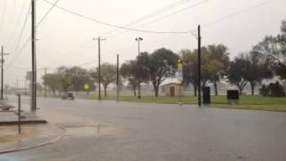 Heavy rain covered roadways Friday morning in Lubbock, including at 62nd Street and Avenue U.