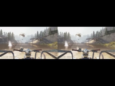 HL2 CM13 in 4k Stereo 3D - Water Hazard