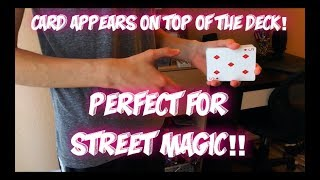 Daydream: Great Card Trick For STREET MAGIC! Performance And Tutorial!