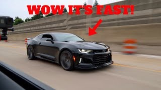 I RACED A CAMARO ZL1 IN MY '18 FORD MUSTANG GT!