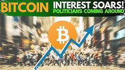 Bitcoin Interest is Soaring! Politicians Starting to like BTC, Best Blockchain Games - Crypto News