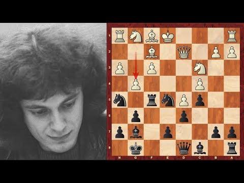Dr John Nunn's Amazing Immortal Kings Indian Defence Game vs Beliavsky - 1985 - Brilliancy!