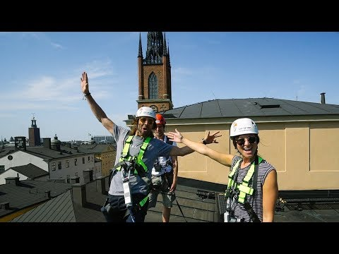 ROOF TOP ADVENTURE with KARA AND NATE 🤘 Stockholm, Sweden  |  VLOG 77