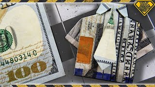 Learn how to turn dollar bills into classy dress shirts you can leave as tips, give as gifts, or just make to impress your friends! Endcard Links: Mousetrap Gun: ...