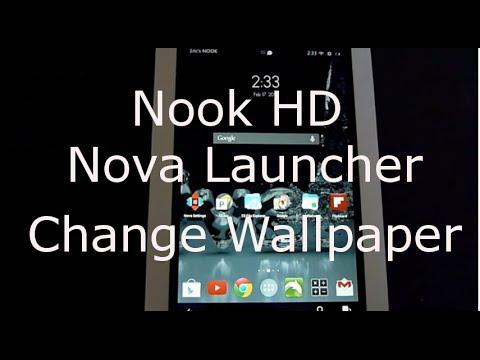 Nook hd nova launcher change wallpaper youtube nook hd nova launcher change wallpaper voltagebd Gallery