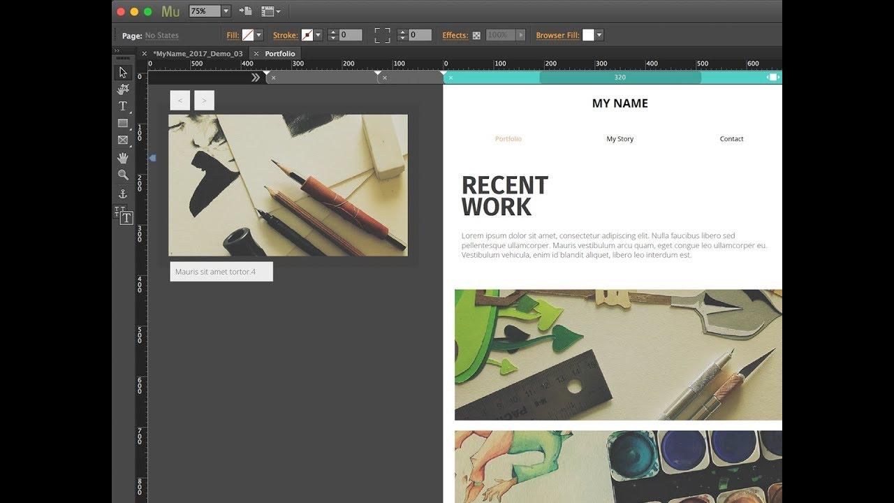 Responsive Slideshows in Adobe Muse