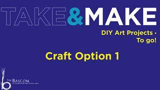 Take and Make: Paper Folding, Craft Option 1