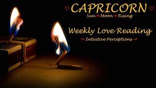 CAPRICORN - AUGUST 19-25 2018 LOVE TAROT READING