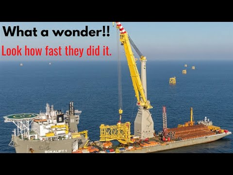 Installation, Commissioning and Testing of 3000mt heavy Offshore Mast Crane -  Timelapse