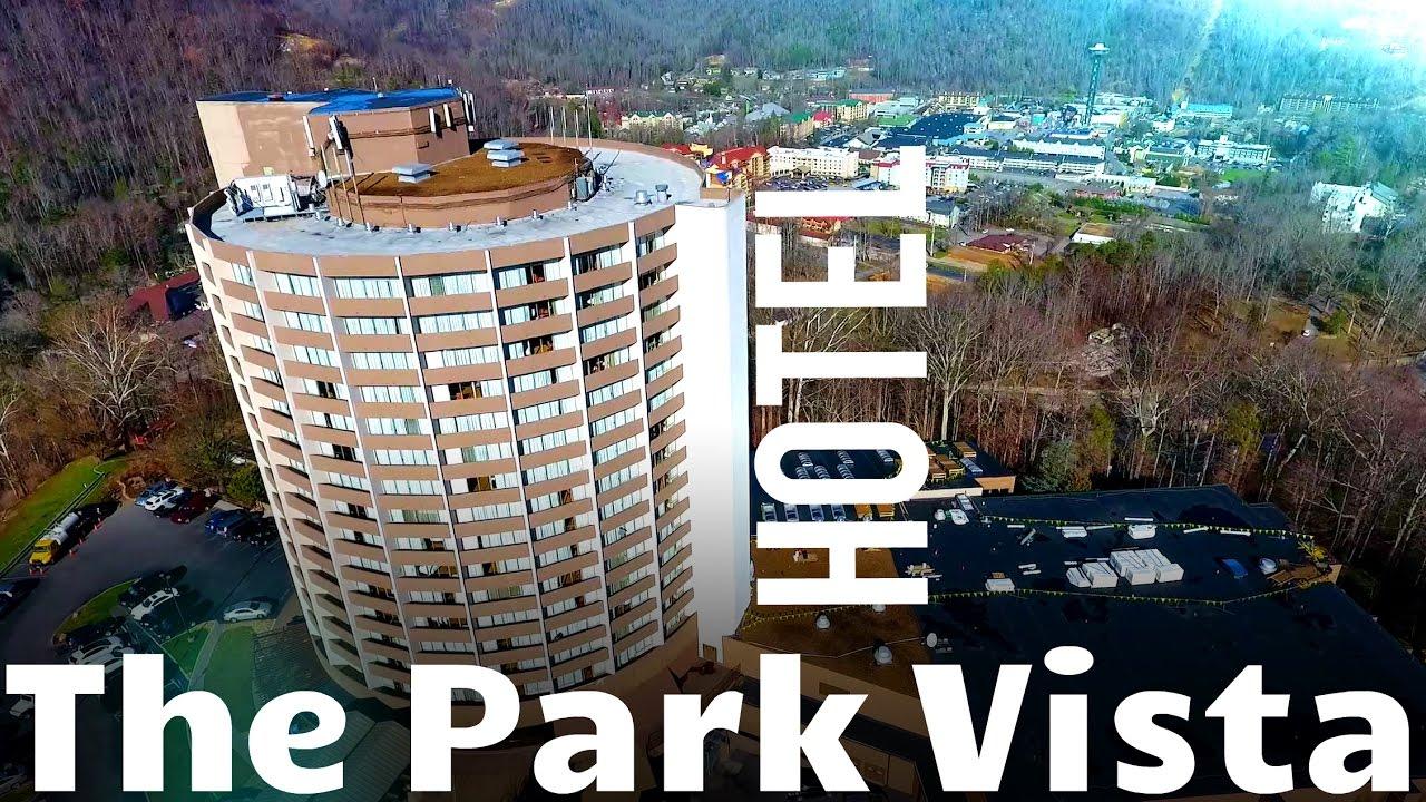 the park vista hotel in gatlinburg tn (aerial drone footage