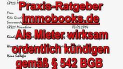 Mietvertrag wirksam kündigen als Mieter 2019 - Was ist zu beachten? - Mustertext Immobooks.de