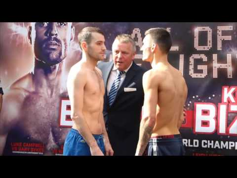 LEIGH WOOD v LEE GLOVER - OFFICIAL WEIGH IN FROM SHEFFIELD / ALL OF THE LIGHTS