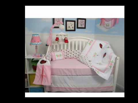 New Soho Ladybug Flowers Garden Baby Crib Nursery Bedding Set 10 Pieces