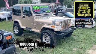 Here's a 26 Year Old Jeep Wrangler Sahara YJ - For Sale Review at Rodgers Wranglers | Charleston, SC