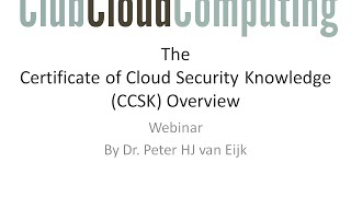 The value of CCSK cloud security training