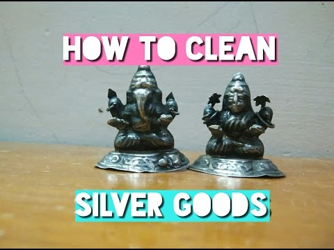 How to clean silver goods DIY with aluminium foil and baking soda...