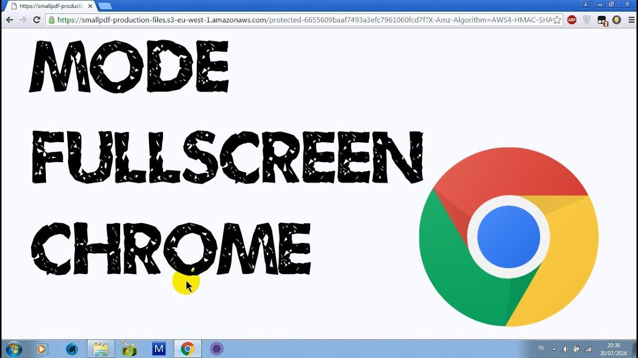 mengembalikan mode fullscreen chrome ke mode semula