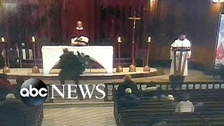 Livestreamed video shows man allegedly stabbing priest during mass