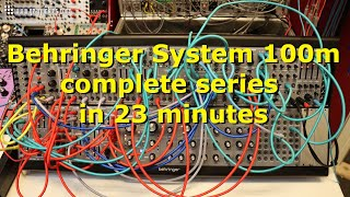 Behringer System 100m complete series in 23 minutes