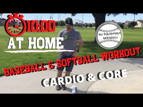 10 MINUTE BASEBALL AND SOFTBALL YOUTH WORKOUT! [FOLLOW ALONG WITH MLB PLAYER] No Equipment Needed!