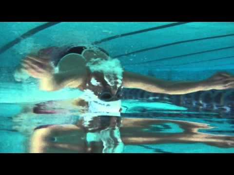 Jeff and Rowena breaststroke upside down