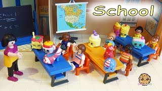 Shopkins Classroom At Playmobil Kids School - Season 8 12 Pack with Surprise Blind Bags - Toy Video