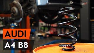Cum se înlocuiește arc de suspensie din față pe Audi A4 B8 Sedan [TUTORIAL AUTODOC]