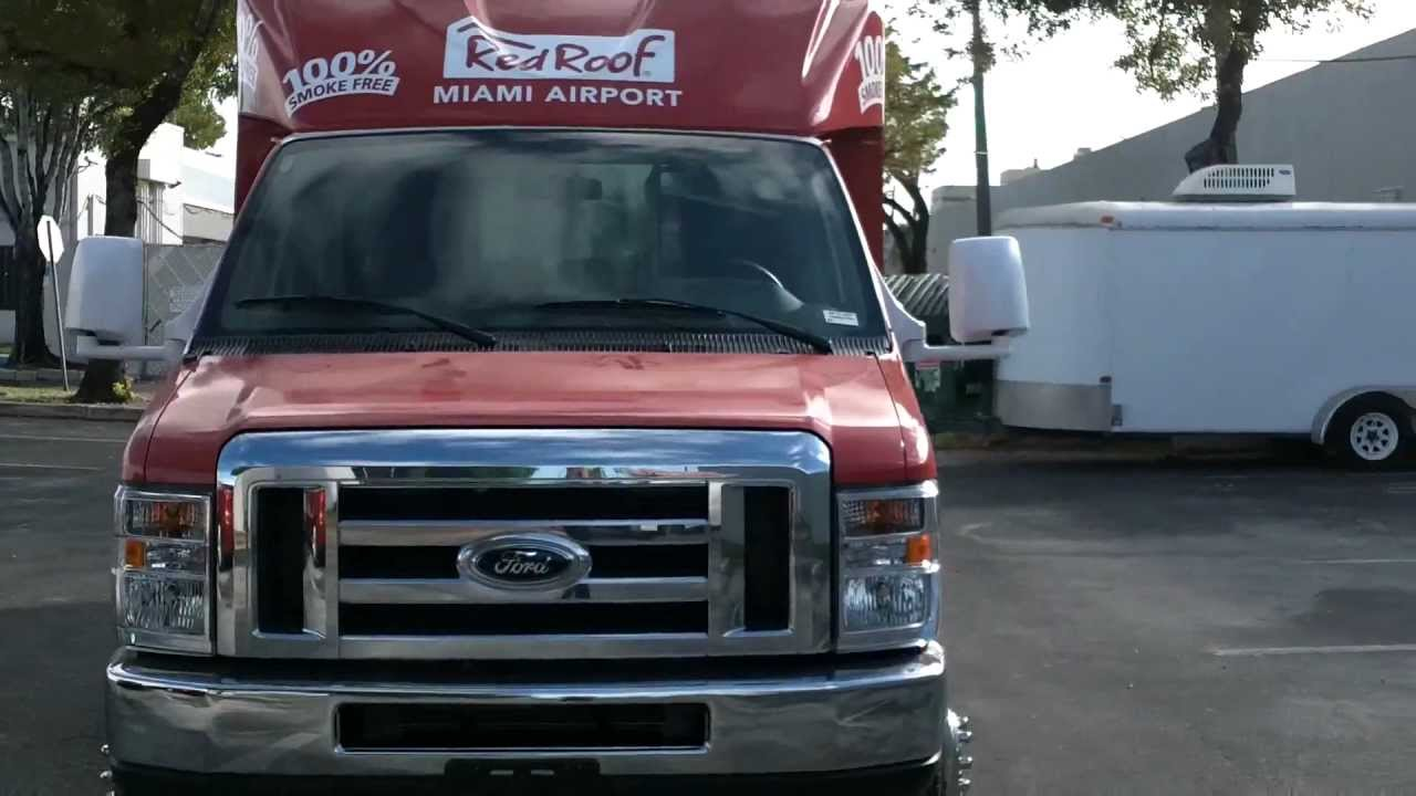 3m Certfied Ford Shuttle Bus Vehicle Wrap Red Roof Inn