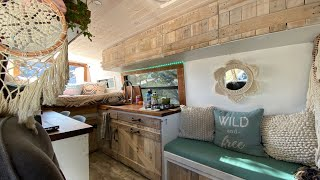 Adventure photographer & family live full time on the road   Van tour of self-converted off-grid van