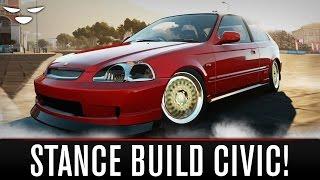 Forza Horizon 2 | STANCED HONDA CIVIC BUILD (How To Make A Stance Car in Forza Horizon 2)
