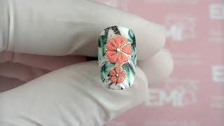 Цветы на ногтях и слайдер Naildress. Легко даже для начинающих!