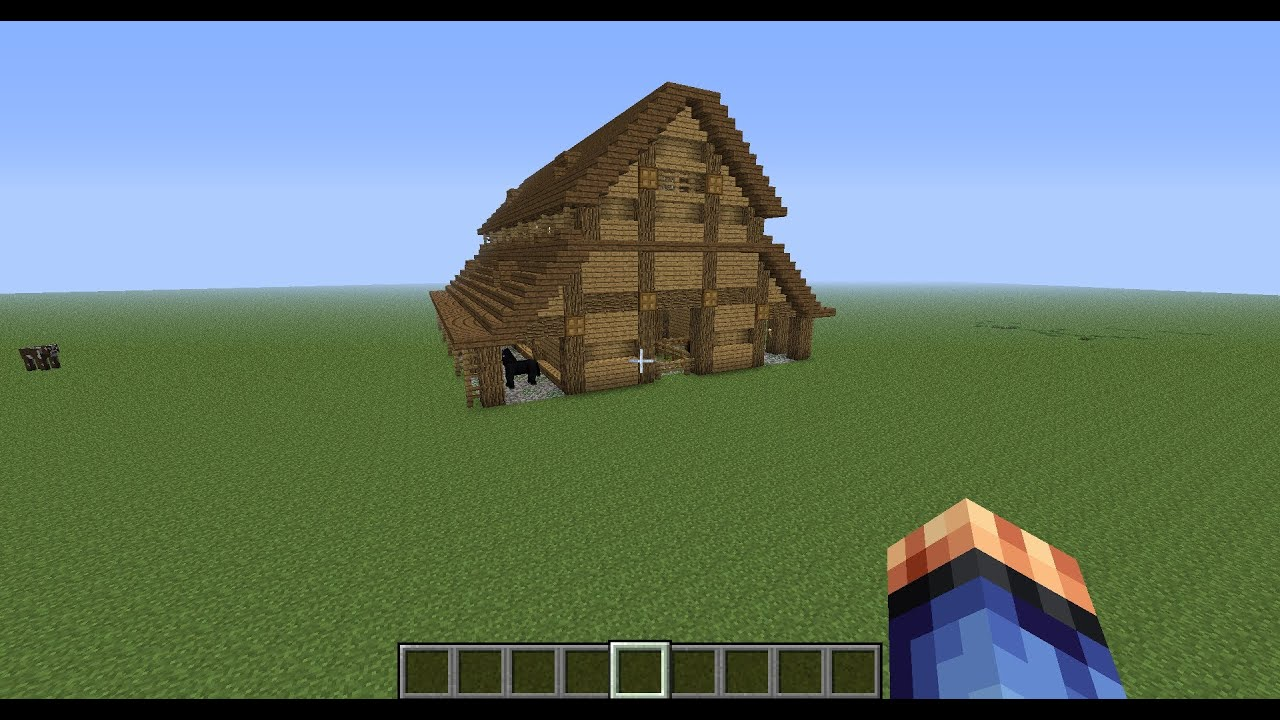 Minecraft Medieval Stables Showcase Youtube