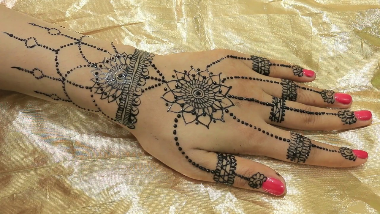 Egyptian Henna Designs: Egyptian Hanging Style Mehndi Designs For Hands