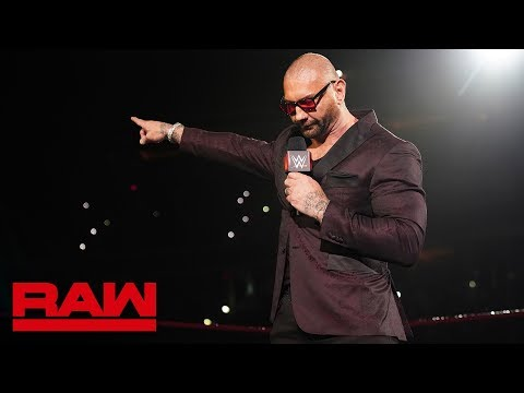 Batista sends a final message to Triple H before WrestleMania: Raw, April 1, 2019